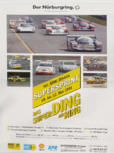 NURBURGRING Group C Supersprint/Interserie 12 May original poster 23x18 inch (600x450mm)